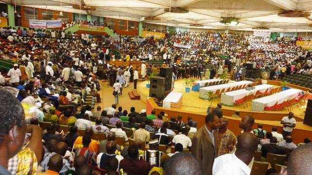Les militants du nouveau parti le 25 janvier 2014 à la Maison du peuple (Ph : B24)