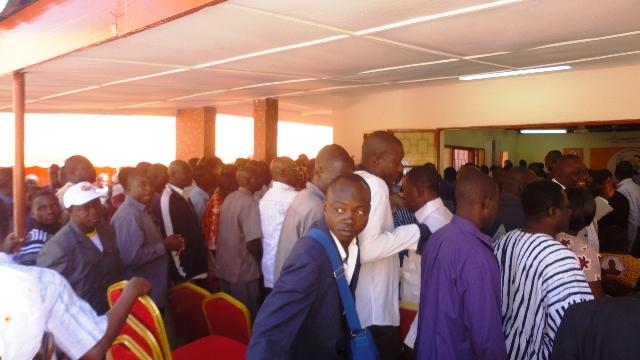 Les militants étaient nombreux au siège du MPP ce mardi (Ph : B24)