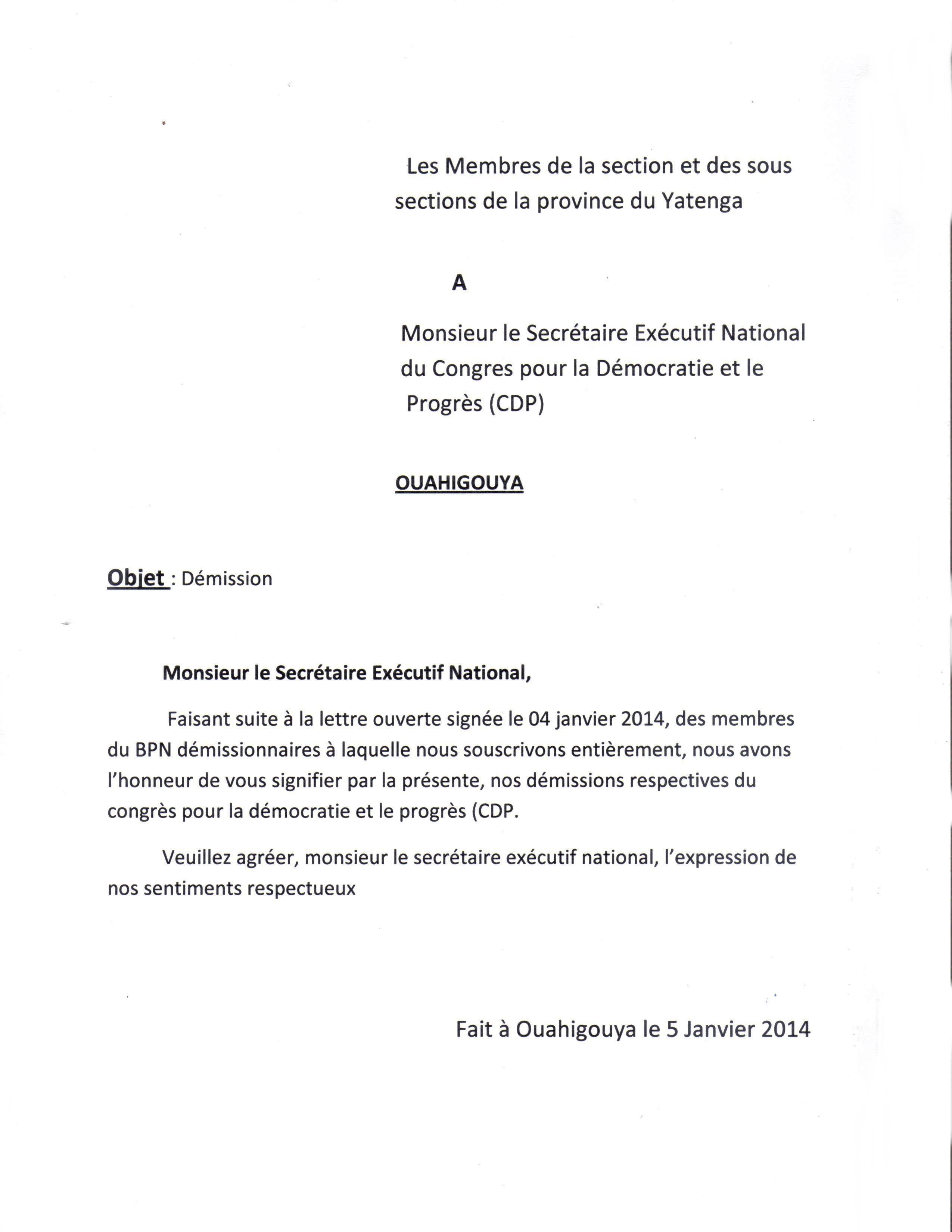 lettre de demission boulangerie lettre de démission – L'Actualité du Burkina Faso 24h/24 lettre de demission boulangerie