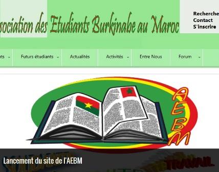 capture du site web