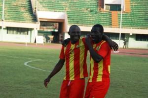 Daouda a marqué le but de l'ASFA Yennenga en cours de match