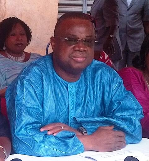 Assimi Kouanda, le 27 février 2014, dans la cour du Baloum Naaba (Ph : B24)