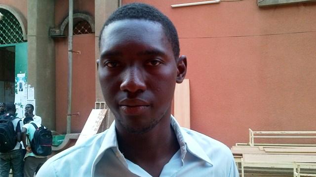 Cheick Touré, étudiant en 2e année de droit (Ph : B24)