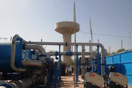 La station de traitement d'eau de Paspanga, en réhabilitation. ©Burkina 24