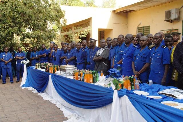 Les gendarmes à la cérémonie de présentation de voeux le 7 février 2014 à l'Etat-major (Ph : B24)