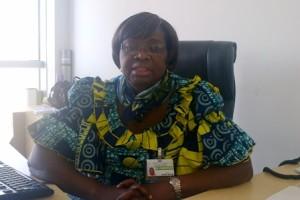 Dr Raymonde Agossou, responsable de la division Jeunesse de l'UA, à son bureau au siege de l'Union. ©Burkina 24