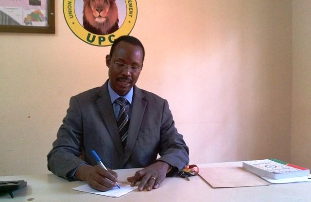 """Nathanaël Ouédraogo, Directeur national chargé des consultations électorales de l'UPC : """"L'UPC compte porter plainte contre François Compaoré"""" (Ph : B24)"""