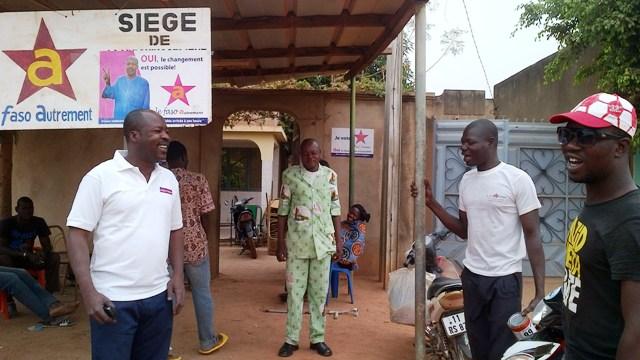 Le Faso Autrement, selon son candidat, a décidé d'opter pour la campagne de proximité (Ph : B24)