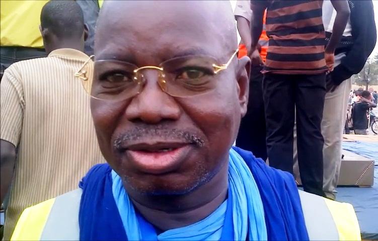 Yamba Malick Sawadogo, l'un des démissionnaires, à la marche de l'opposition du 18 janvier 2014 (Ph : B24)