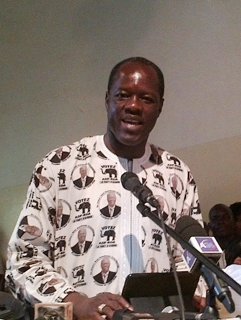 Gilbert Ouédraogo, président de l'ADF/RDA (Ph: B24)