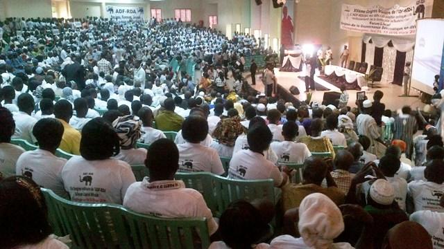 Les militants de l'ADF/RDA à l'ouverture du 15e congrès de leur parti  et du Forum libéral africain (Ph : B24)
