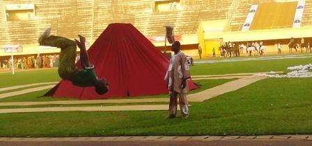 L'une des scènes du spectacle d'ouverture (Ph : B24)