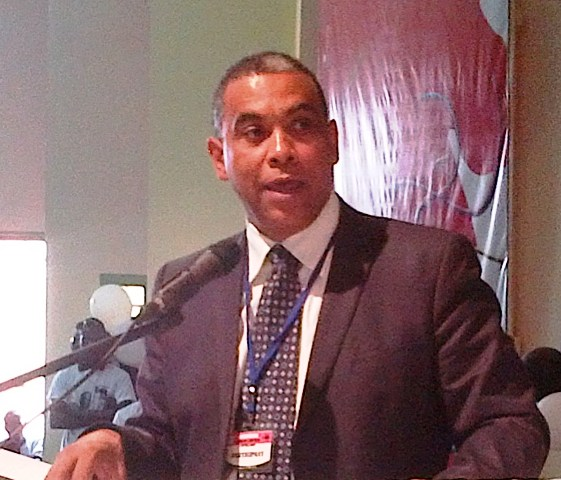 Olivier Kamitatou, Président du Réseau libéral africain (Ph : B24)