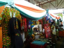 Des produits ghanéens exposés lors d'une foire en Côte d'Ivoire (Ph ; www.amanien.info)