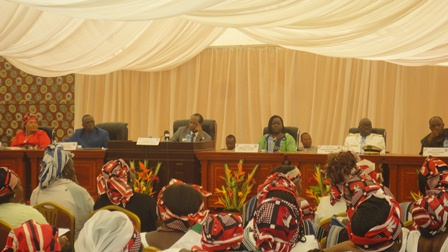 La rencontre entre les femmes et Blaise Compaoré (Ph : B24)
