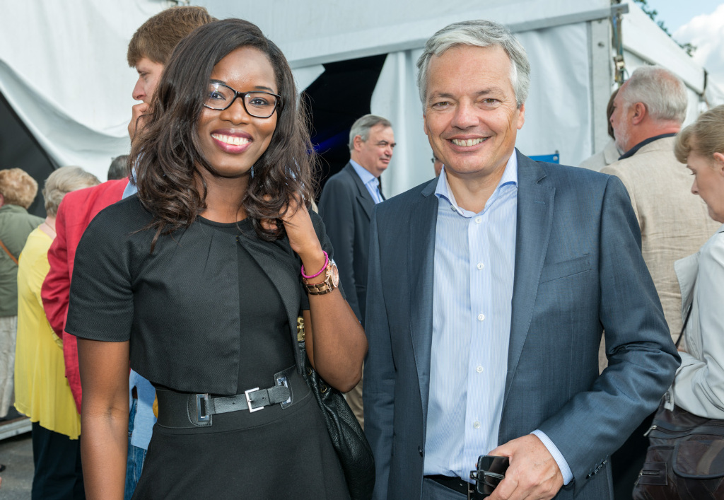 Assita Kanko et Didier Reynders (Ph : www.assitakanko.be)