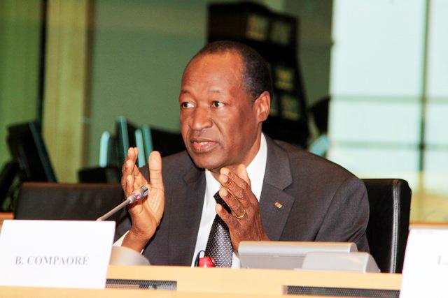 Le chef de l'Etat au cours de sa communication (Ph : DirCom présidence du Faso)