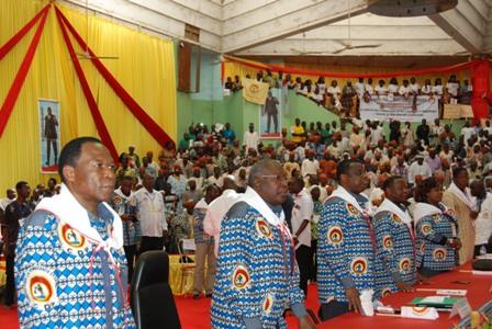 Les menbre du Secrétaire exécutif national à l'ouverture de la session du conseil national. © Burkina 24