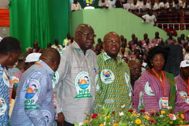 Les leaders du MPP à l'ouverture du congrès du 5 avril 2014 à Ouagadougou (Ph : B24)