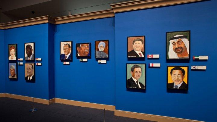 Quelques oeuvres réalisées par le président Bush.