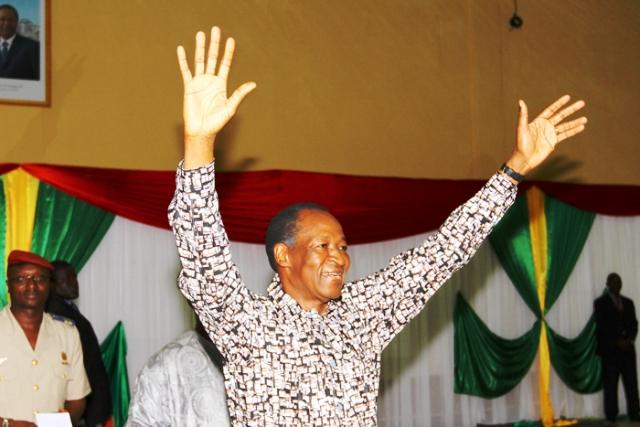 Blaise Compaoré  à Koudougou lors de son meeting avec les forces vives (Ph : Dircom. Présidence du Faso)