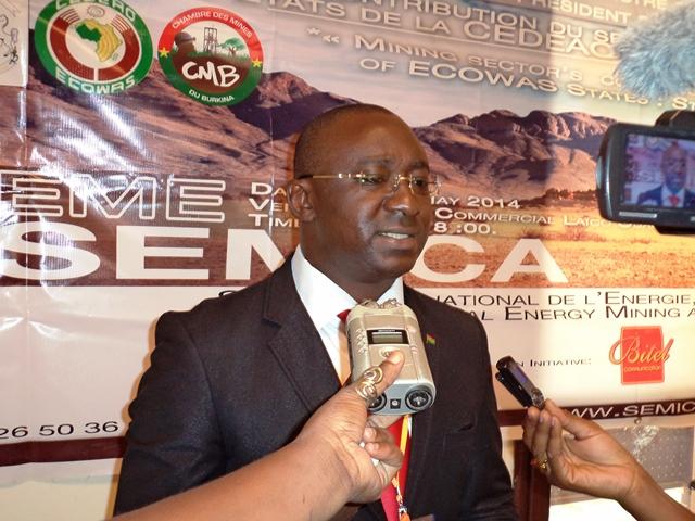 Le commissaire général adjoint du SEMICA, Innocent BELEMTOUGRI