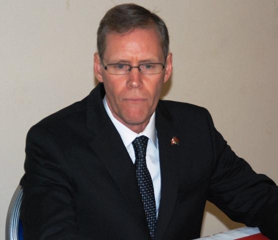 Ivan Roberts, ambassadeur du Canada au Burkina et co-président du Groupe de travail Sahel du FGCT (Ph : B24)