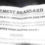 Inhumation du juge Nébié: Des brassards noirs pour l'accompagner