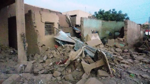 L'explosion a fait des dégâts importants (© Burkina 24)