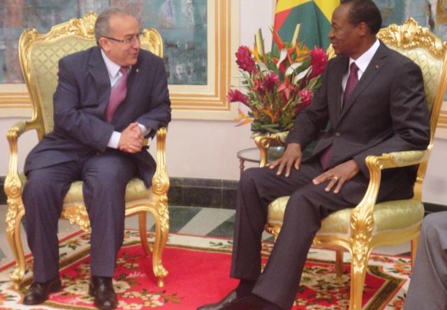 Pour le ministre algérien des affaires étrangères, le Burkina et l'Algérie sont sur la même longueur d'ondes (© Burkina 24)