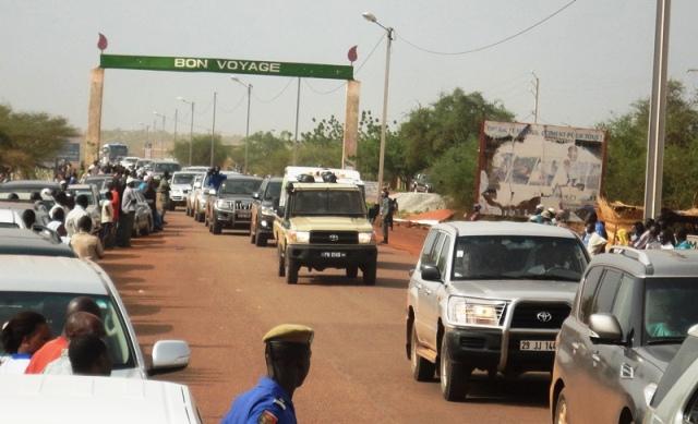 Arrivée du cortège à l'entrée de Ouahigouya (© Burkina 24)