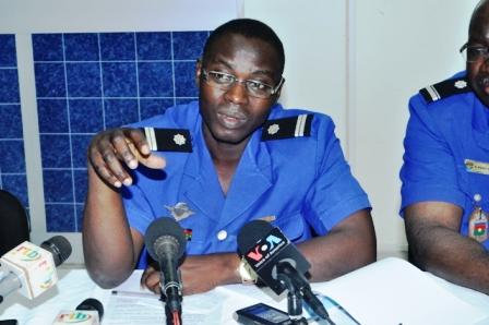 Le lieutenant Issa Paré, commandant de la compagnie de gendarmerie du Kadiogo (© Burkina 24)