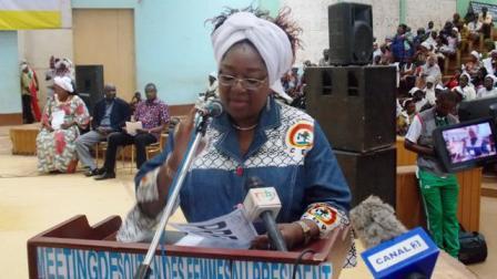 La secrétaire chargée de la mobilisation des femmes au sein du CDP, Pauline Traoré Nignan