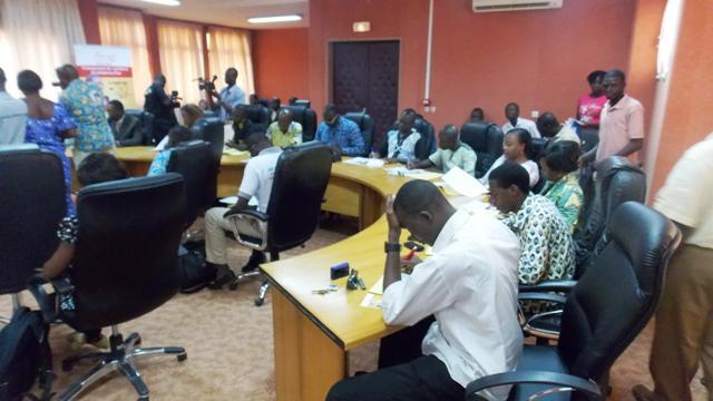 Des journalistes lors de la conférence de presse de l'ARCEP (©Burkina24)