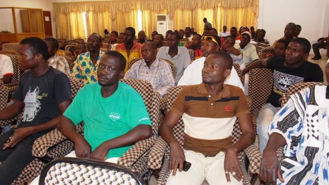 Alfred Ouédraogo les a présentés comme des démissionnaires du MPP Pabré ( © Burkina 24)