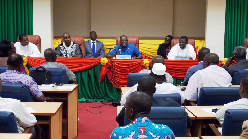Me Bartelemy Kéré lors de la rencontre avec  les acteur les du processus electoral