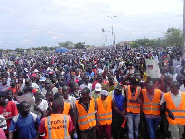 Vue des manifestants, ce 23 août (© Burkina 24)