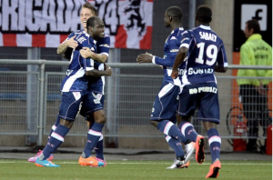 Djakaridja Koné (gauche) a ouvert le score pour Evian dès l'entame du match