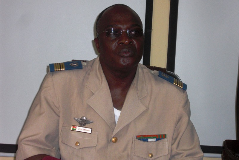 Le commandant de l'EMTO, le colonel Sawadogo Zitida