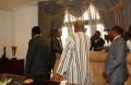 Blaise Compaoré saluant les opposants, dont Roch Marc Christian Kaboré (boubou) (© Burkina 24)