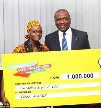 Cissé Mabré dont le projet a particulièrement séduit le Ministre