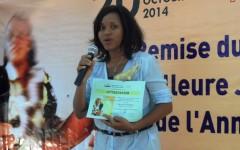 Aïssata Sankara , meilleure Journaliste 2014