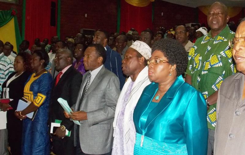 Quelques membres du BPN du CDP à l'ouverture de la session extraordinaire ce 21 octobre 2014 (© Burkina 24)