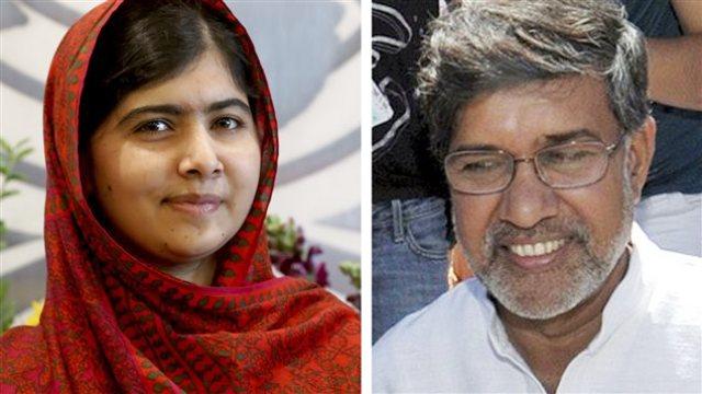 le prix nobel de la paix 2014 d cern une pakistanaise de 17 ans et un indien de 60 ans l. Black Bedroom Furniture Sets. Home Design Ideas