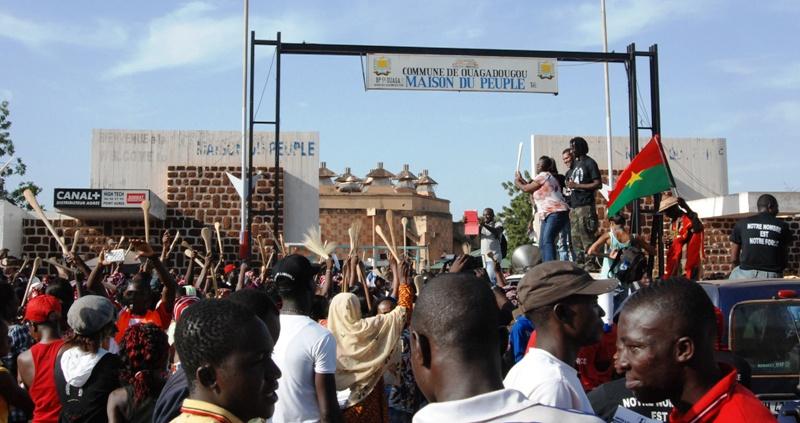 A la Maison du peuple, avant le début de la marche (© Burkina 24)