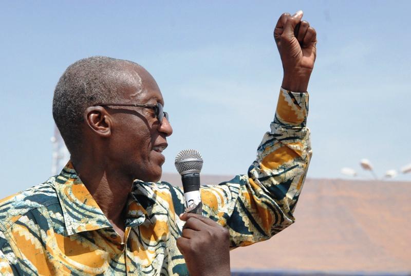 Chryzogone Zougmoré, premier vice-président de la CCVC : «L'imposture annoncée pour le 30 octobre est vouée à l'échec » (© Burkina 24)