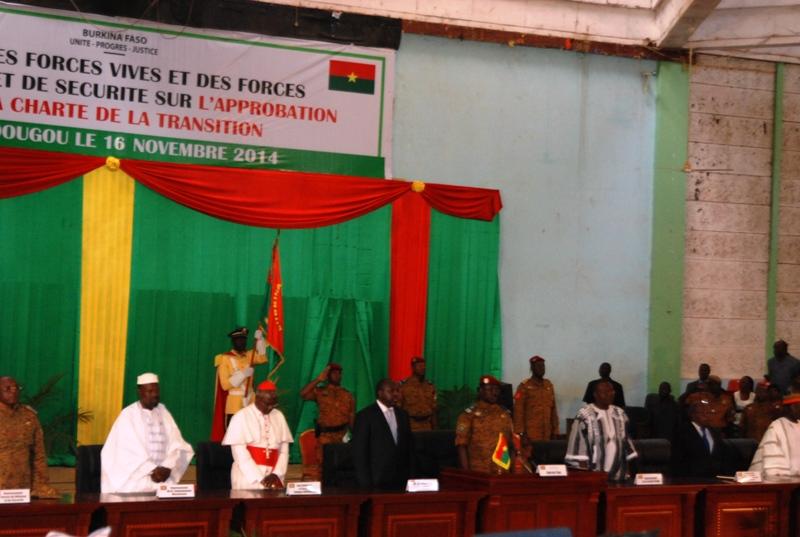 Une partie du présidium (© Burkina 24)