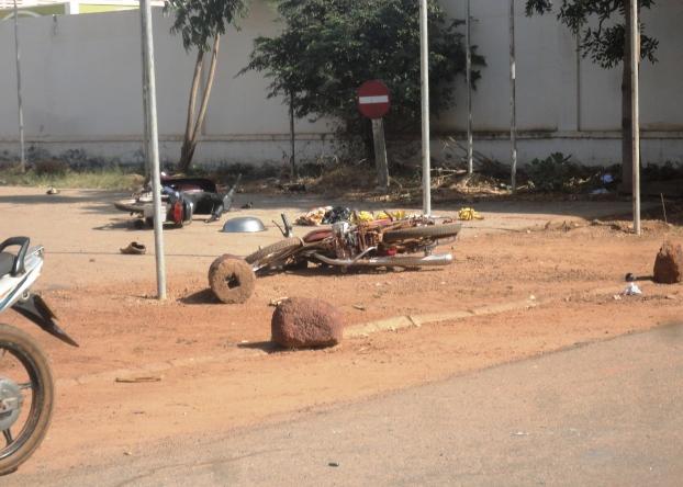 Accidents de la circulation provoquée par les tirs de sommations. Accidents de la circulation provoquée par les tirs de sommations. (©Burkina24)