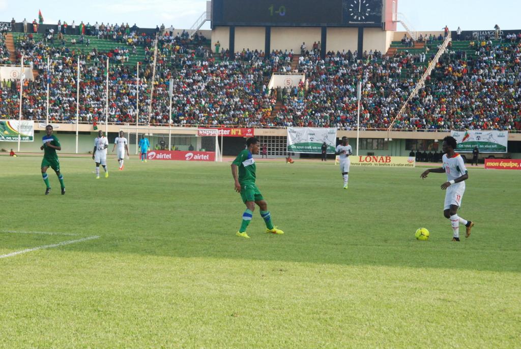 Les Étalons du Burkina se sont imposés 2 à 0 au match aller