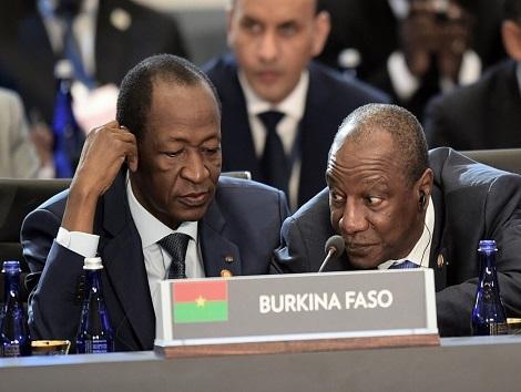 Blaise Compaoré et Alpha Condé (© Africaguinee)